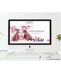 Thiết kế website shop mỹ phẩm, làm đẹp