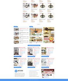 Mẫu website kinh doanh quạt trần