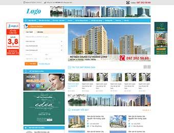 Mẫu website bất động sản M001
