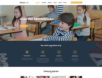 Mẫu website giáo dục Mamobooks