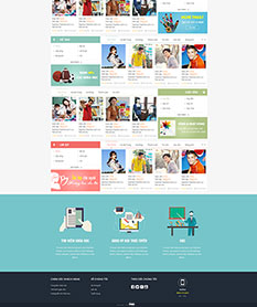 Mẫu website giới thiệu khóa học trực tuyến