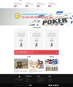 Mẫu website shop bán bộ bài Poker