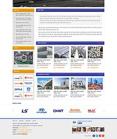 Mẫu thiết kế web công ty xây dựng Hưng Vượng