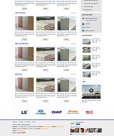 Mẫu thiết kế web công ty xây dựng Việt Panel