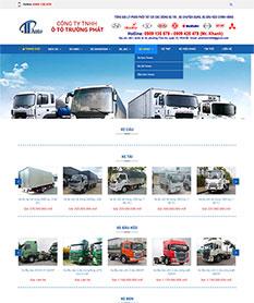 Mẫu thiết kế website bán ôtô công ty Trường Phát