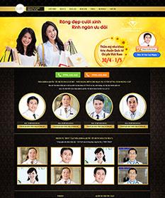 Mẫu thiết kế website phòng khám nha khoa