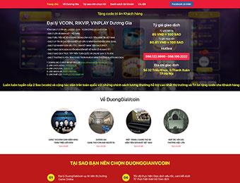 Mẫu thiết kế website mua bán Vcoin