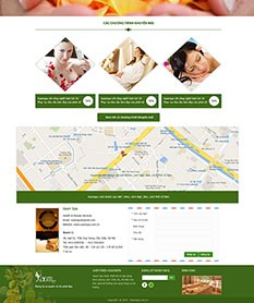 Mẫu thiết kế web spa Xaamspa
