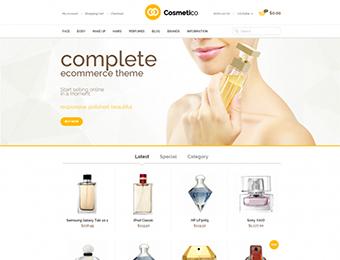 Mẫu website mỹ phẩm M001