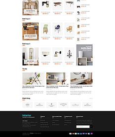 Mẫu website nội thất M005