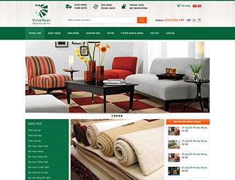 Mẫu thiết kế web sàn nội thất VinaFloor