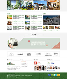Mẫu thiết kế web nội thất nhà đẹp