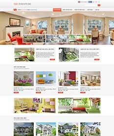 Mẫu website nội thất M002