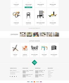 Mẫu website nội thất M004