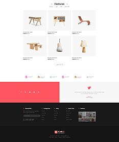 Mẫu website nội thất M001
