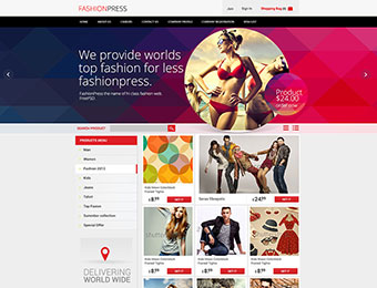 Mẫu website thời trang M009