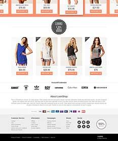 Mẫu website thời trang M010