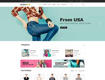 Mẫu website thời trang M011