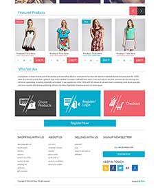 Mẫu website thời trang M012