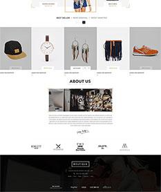 Mẫu website thời trang Boutique
