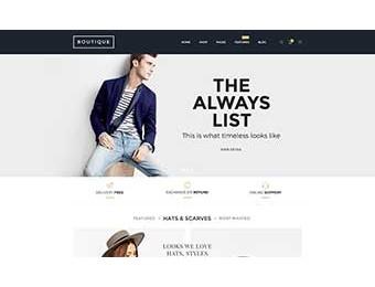 Mẫu website thời trang M001