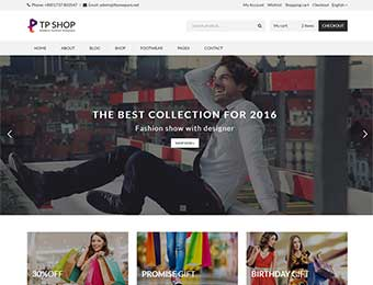 Mẫu website thời trang M006