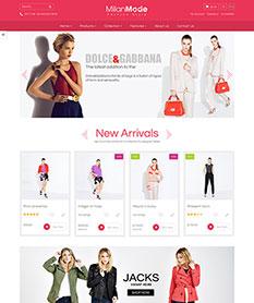 Mẫu website thời trang M008