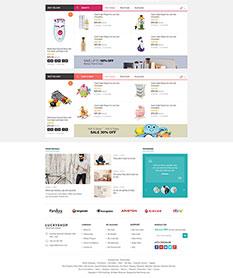 Mẫu website bán hàng Luckyshop