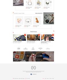 Mẫu website kinh doanh đồ handmade