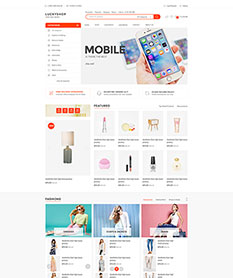 Mẫu website super market Luckyshop