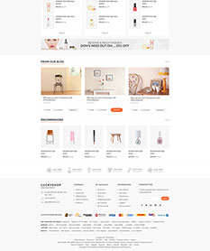 Mẫu website super market Luckyshop