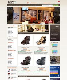 Mẫu thiết kế website kinh doanh ghế Massage OSIM