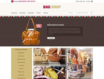 Mẫu thiết kế web kinh doanh giầy túi xách