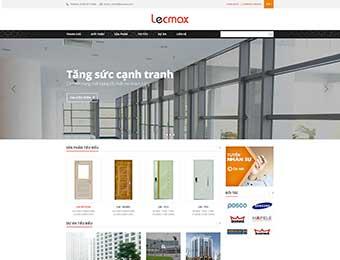 Mẫu website cửa công trình Lecmax