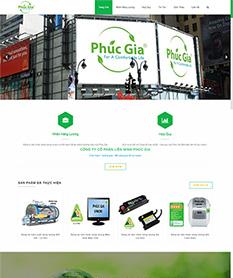 Mẫu website giới thiệu công ty Phúc Gia