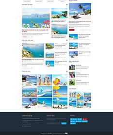 Mẫu website tin tức thành phố Nha Trang