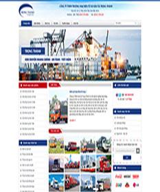 Mẫu website công ty vận tải Trọng Thành