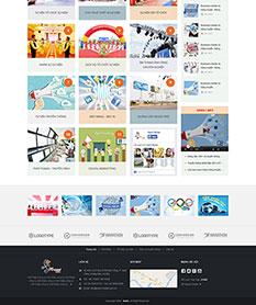 Mẫu thiết kế web công ty truyền thông Nami