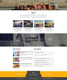 Mẫu thiết kế website công ty Logistics Golden