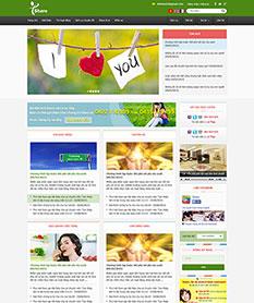Mẫu thiết kế web tin tức I Share