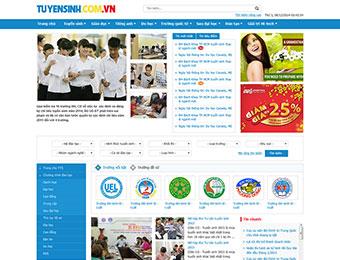 Mẫu thiết kế web giới thiệu tin tức tuyển sinh