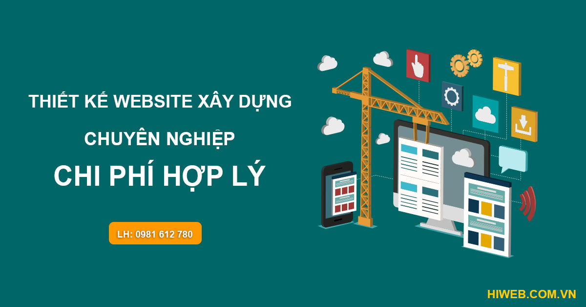 Thiết kế website xây dựng - HIWEB