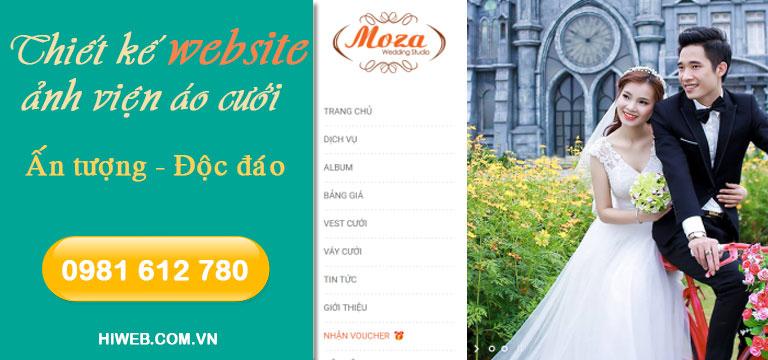 Thiết kế website ảnh viện áo cưới - HIWEB