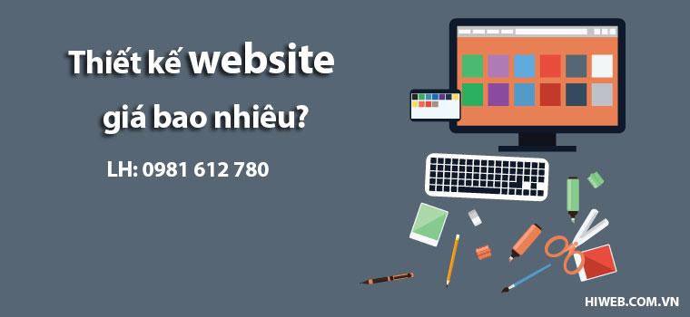 Thiết kế website giá bao nhiêu? - HIWEB