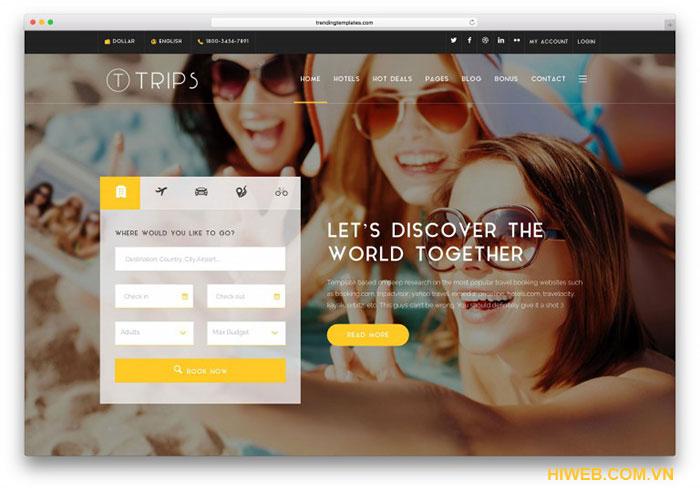 Thiết kế website khách sạn - HIWEB