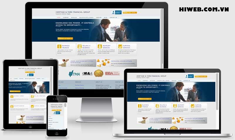 Thiết kế website khách sạn Responsive - HIWEB
