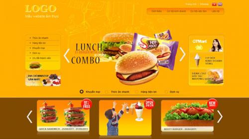 Thiết kế website nhà hàng ẩm thực đẹp - HIWEB