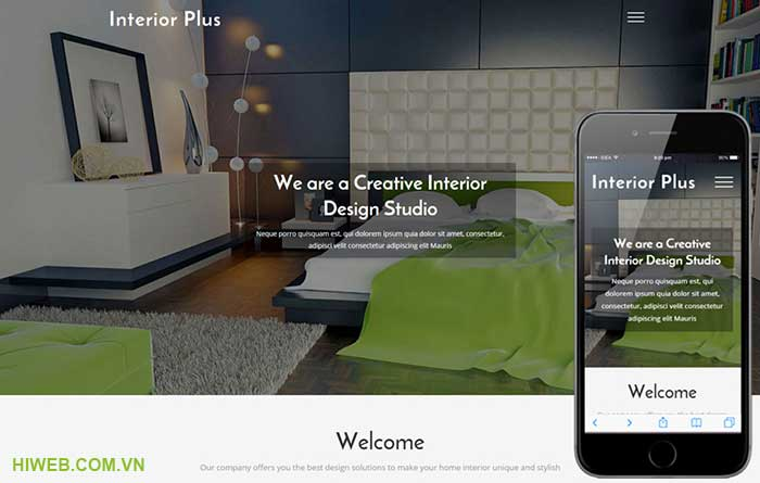 Thiết kế web nội thất - HIWEB