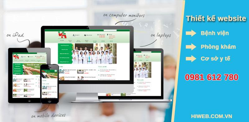 Thiết kế website bệnh viện - phòng khám - cơ sở y tế - HIWEB