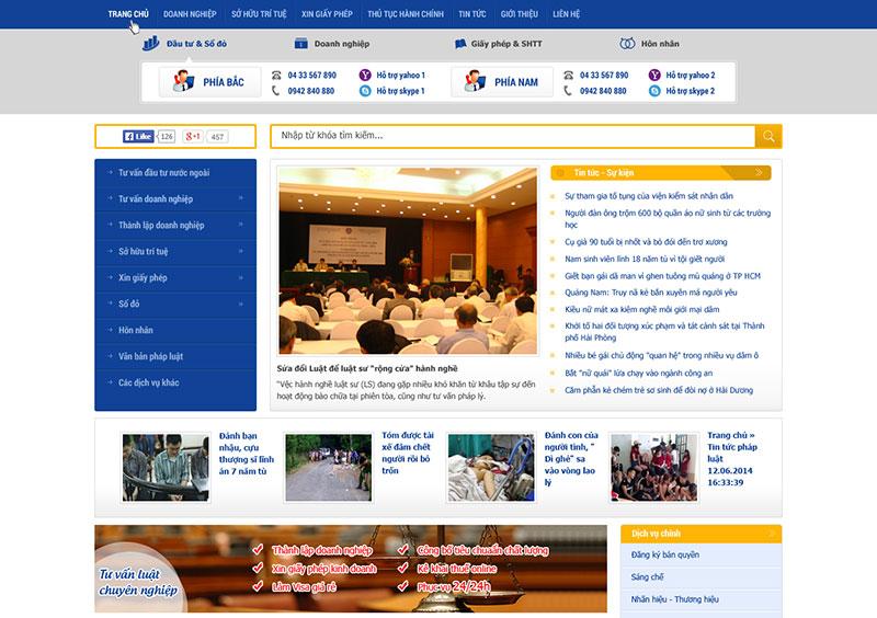 Thiết kế website văn phòng luật sư, công ty luật - HIWEB